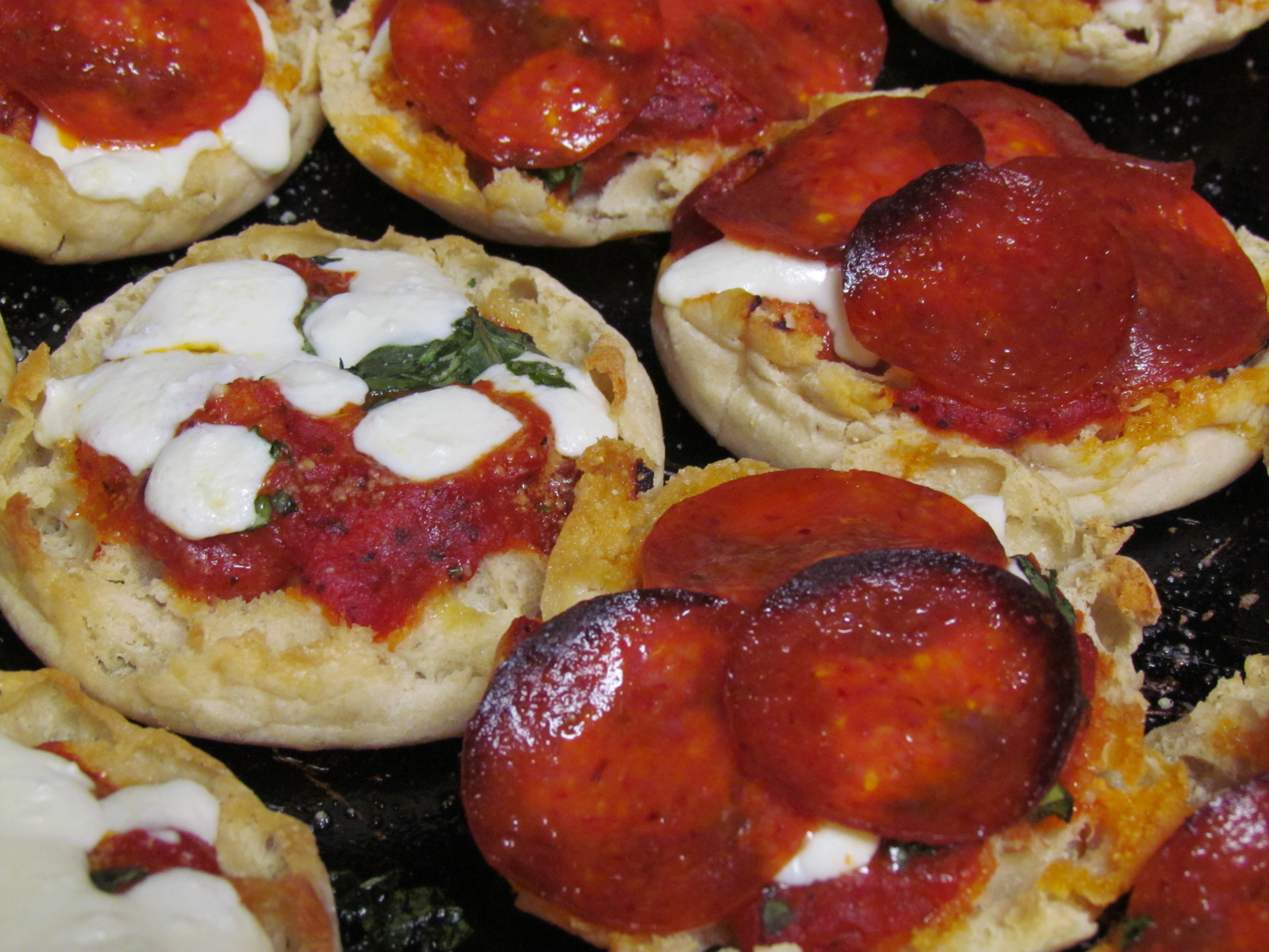 Dad's English Muffin Pizzas Recipe — Dishmaps