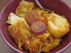 Cabbage, Pepperoni & Potatoes